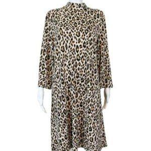 Chico's Mock-neck Leopard Animal Dress 2 New